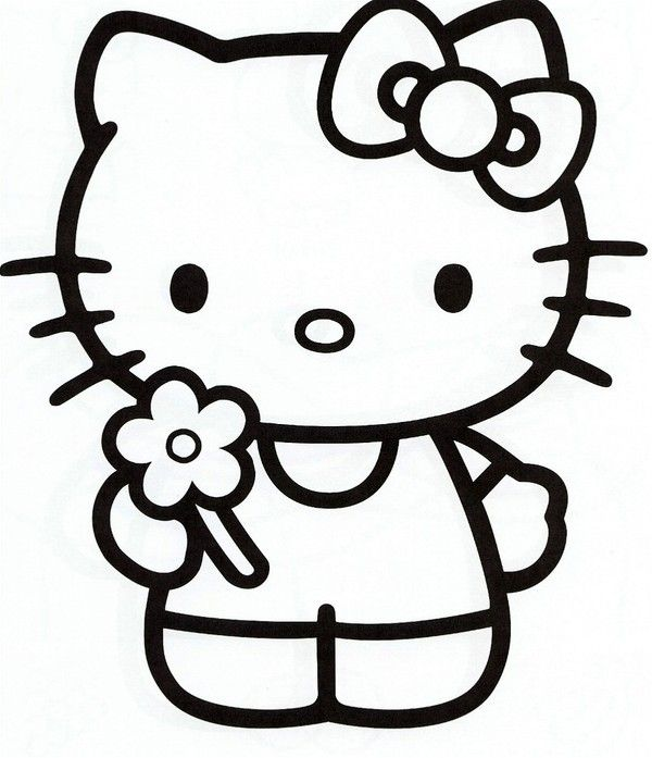 Coloriage hello kitty for Images of hello kitty coloring pages