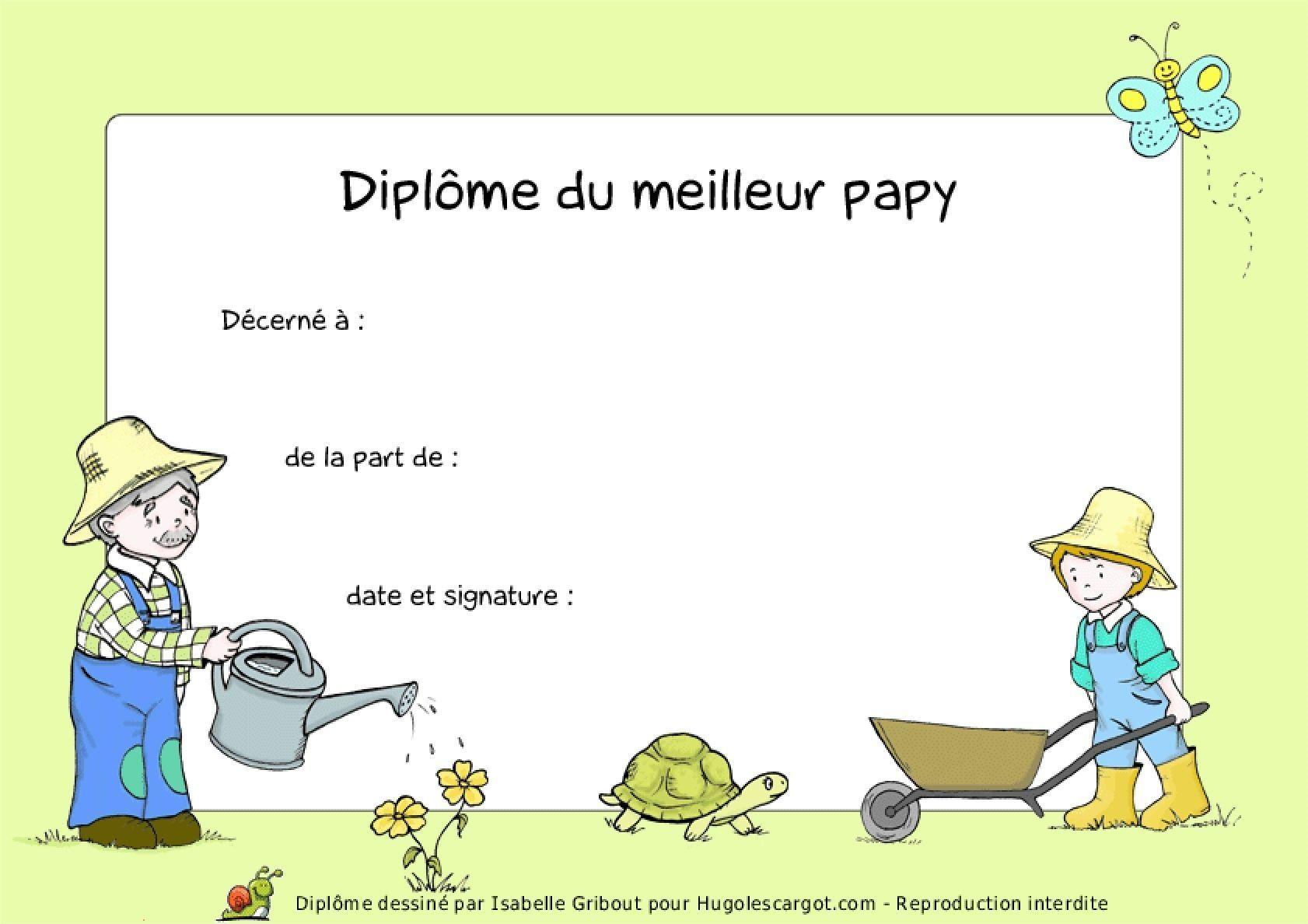 Diplome papy - Diplome du super papa a imprimer gratuit ...